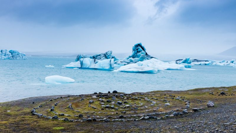 lago glaciar islandia